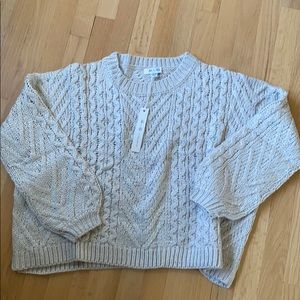 NWT She + Sky cable sweater